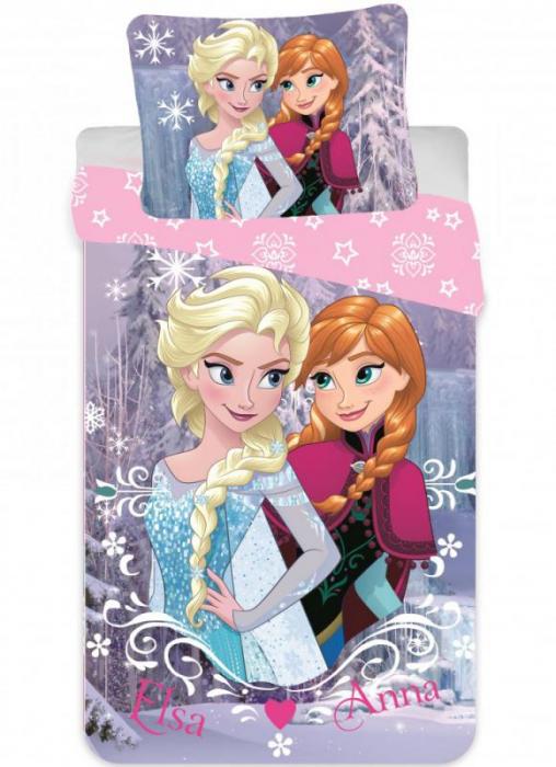 Lenjerii de pat copii, Frozen 2 piese 90x140 cm, 40x55 cm [0]