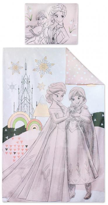 Lenjerii de pat copii, Disney Frozen II 2 piese 90x140 cm, 40x55 cm [0]