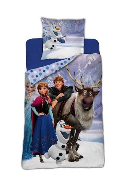 Lenjerii de pat copii, Frozen , 2 piese 140Ă—200cm, 63Ă—63 cm 0