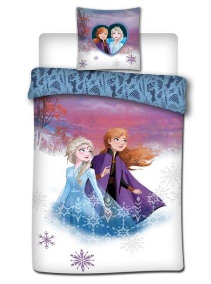 Lenjerii de pat copii, Frozen II, Ana&Elsa , 2 piese 140x200 cm, 63x63 cm 0