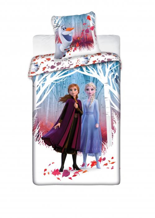 Lenjerii de pat copii, Frozen II Nature, 2 piese 140x200cm, 63x63 cm 0