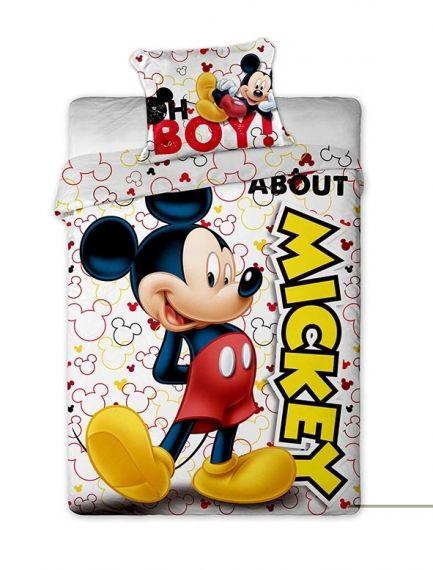 Lenjerii de pat copii, Mckey Mouse , 2 piese 140x200cm, 63x63 cm 0