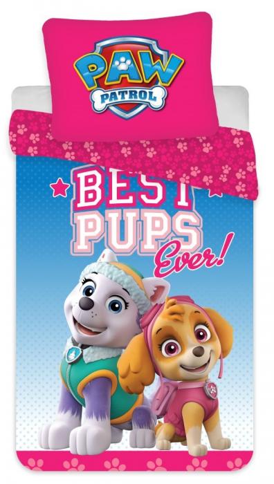 Lenjerii de pat copii, Paw Patrol, Best Pups Ever 2 piese 100x135 cm, 40x60 cm [0]