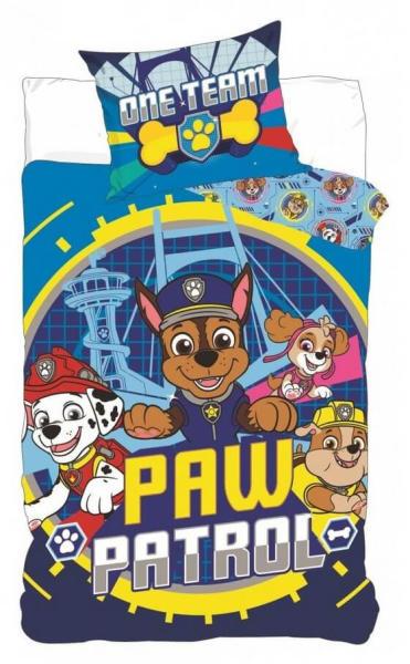 Lenjerii de pat copii, Paw Patrol, One Team 2 piese 100x135 cm, 40x60 cm [0]