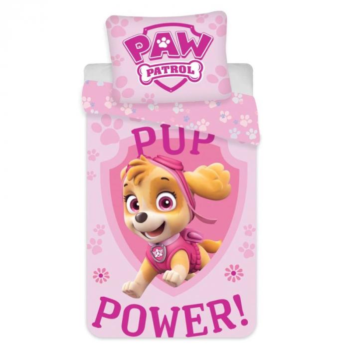 Lenjerii de pat copii, Paw Patrol, Skye Power Pup 2 piese 100x135 cm, 40x60 cm [0]