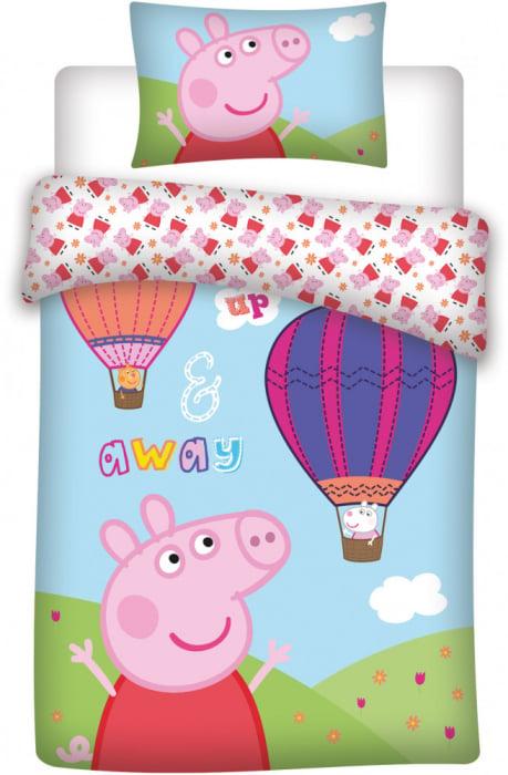 Lenjerii de pat copii, Peppa Pig, 2 piese 100x135 cm, 40x60 cm 0