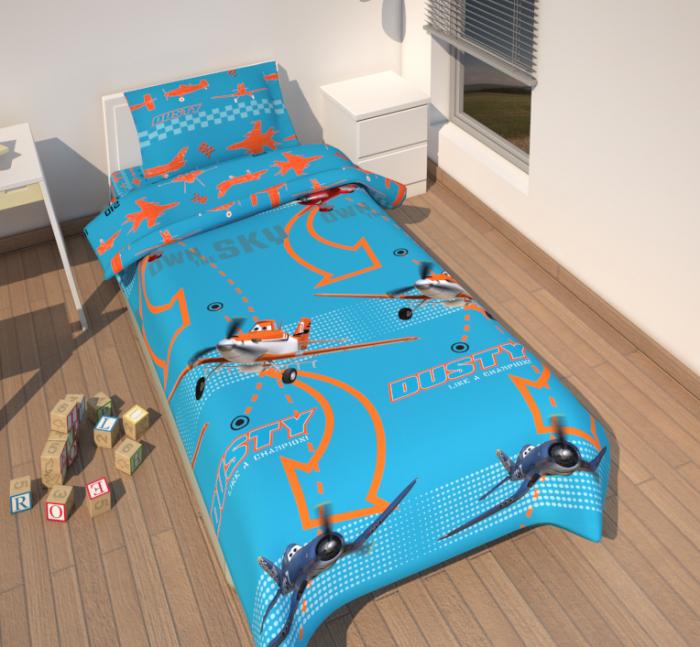 Lenjerii de pat copii, Planes, 2 piese 135x200 cm, 80x68 cm [0]