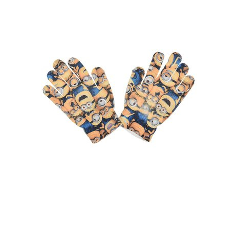 Manusi Minions poliester,16-18 cm, galben [0]