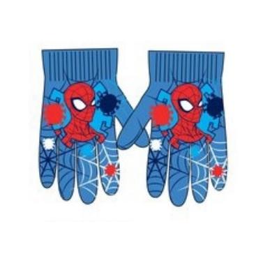 Manusi Spiderman,poliester,16-18 cm, albastru 0
