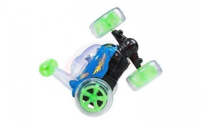 Masina acrobatica cu lumini si telecomanda 360 grade albastru 0