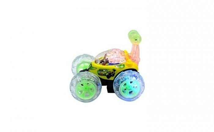Masina acrobatica cu lumini si telecomanda 360 grade galbena 0