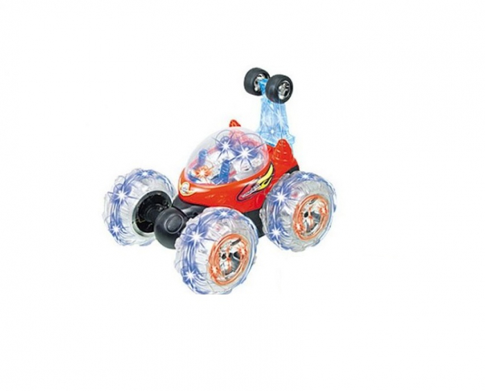 Masina acrobatica cu lumini si telecomanda 360 grade rosu 0