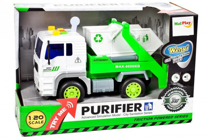 Masina de gunoi cu sunet si lumini 18x9,5x11cm [5]