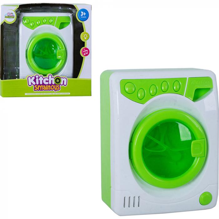 Masina de spalat de jucarie cu lumini si sunete verde 2