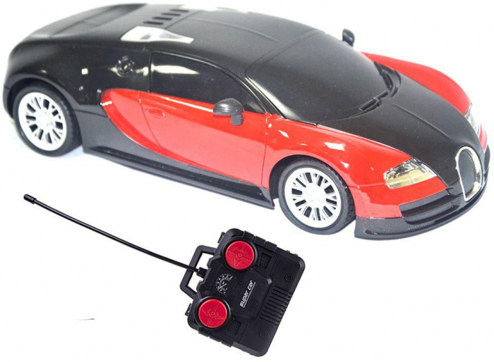 Masina tip bugatti cu telecomanda rosu [0]