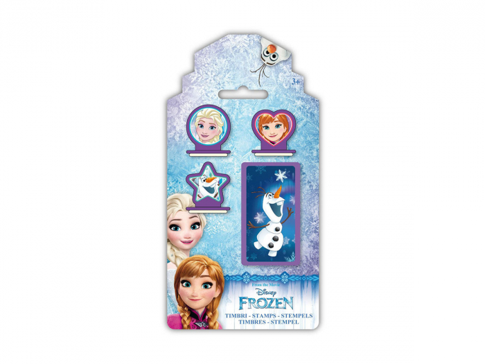 Set 3 stampile Frozen cu tusiera 0