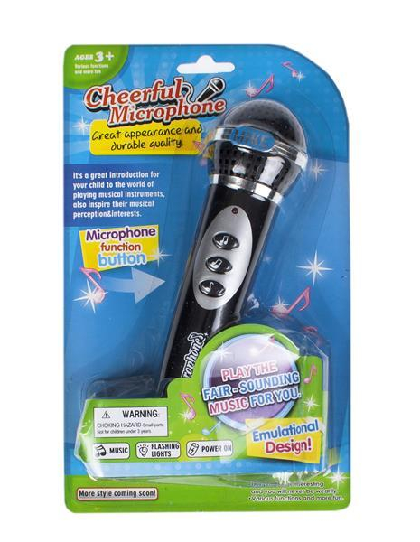Microfon Mega Creative portabil cu boxa incorporata cu sunet si lumini 0