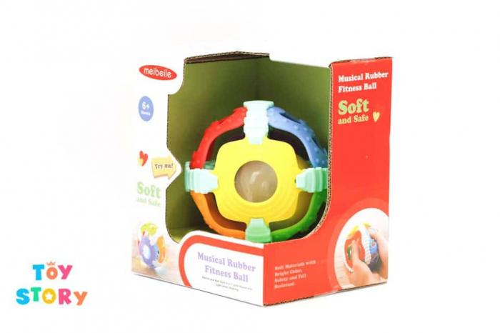 Minge bebe senzoriala jucarie zornaitoare cu lumini 10 cm 4