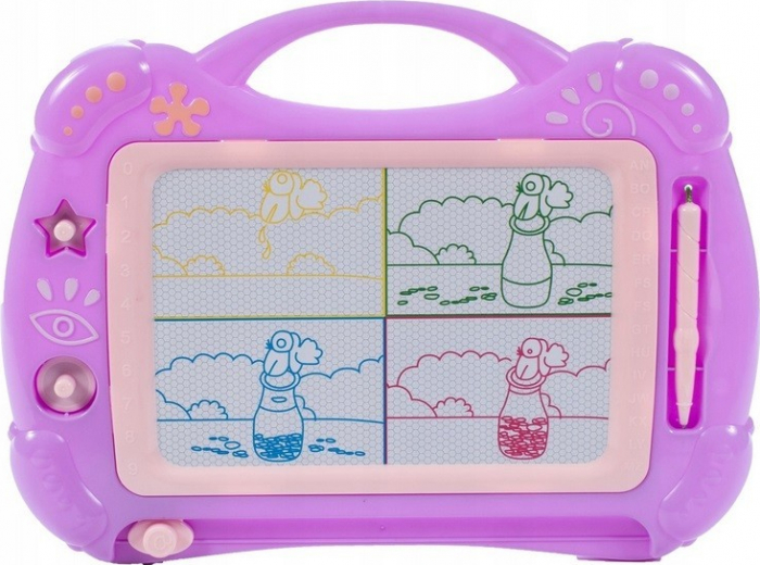 Tabla magnetica roz cu forme pentru desen [0]