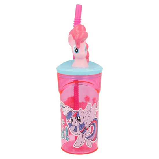 Pahar My little Pony cu capac si pai plastic 360 ml 1