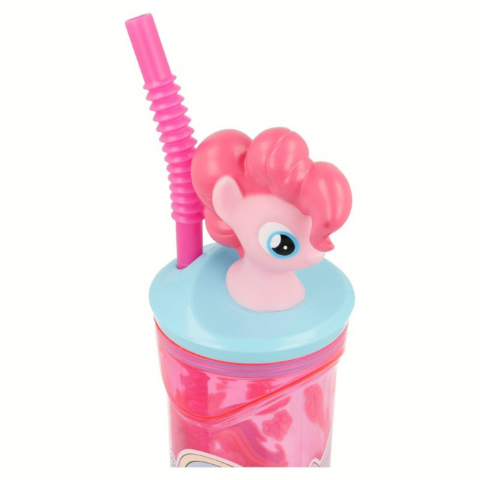 Pahar My little Pony cu capac si pai plastic 360 ml 3