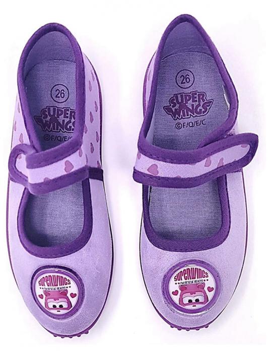 Pantofi interior mov Dizzy Super Wings 2
