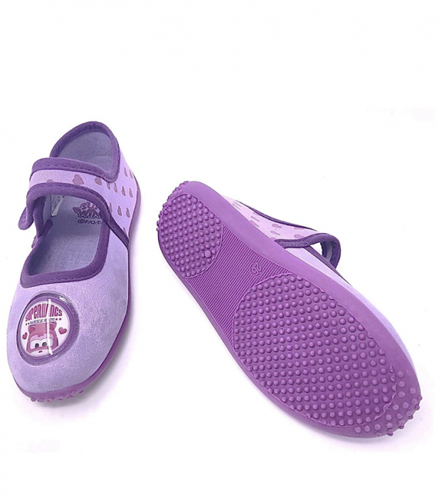 Pantofi interior mov Dizzy Super Wings 3