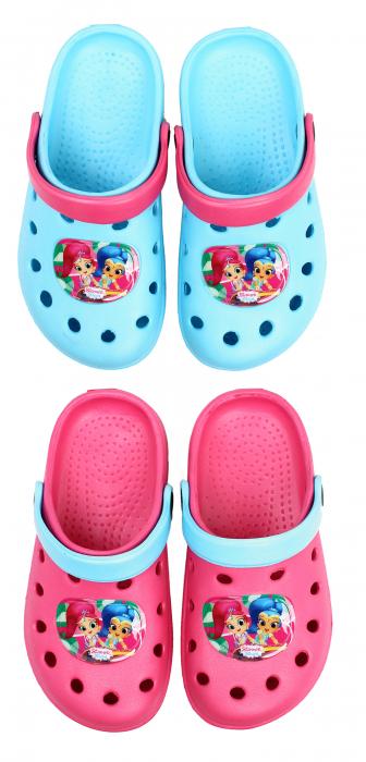 Papuci plaja clogs eva Shimmer Shine 1