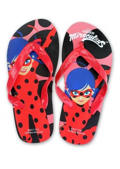 Papuci slapi flip flop Ladybug 0