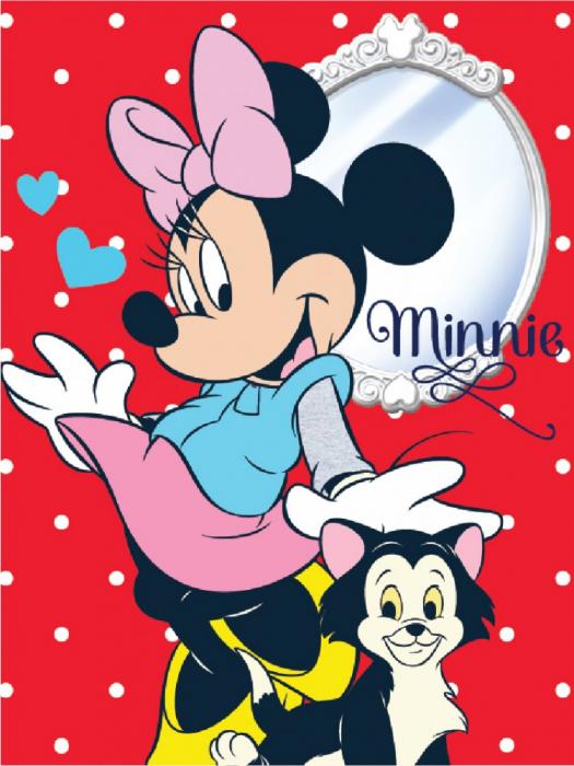Patura Minnie Mouse fleece rosu 150 x 200 cm 0