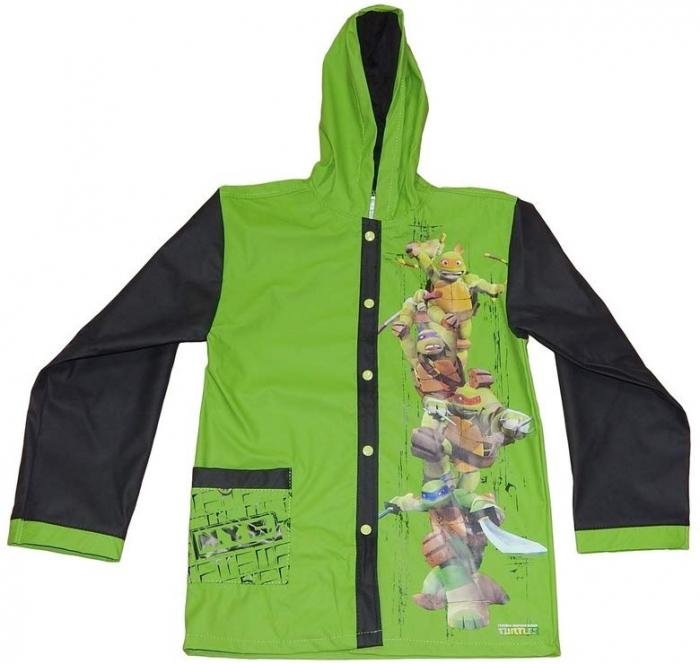 Pelerina ploaie Testoasele Ninja, PVC,verde,6 ani 0