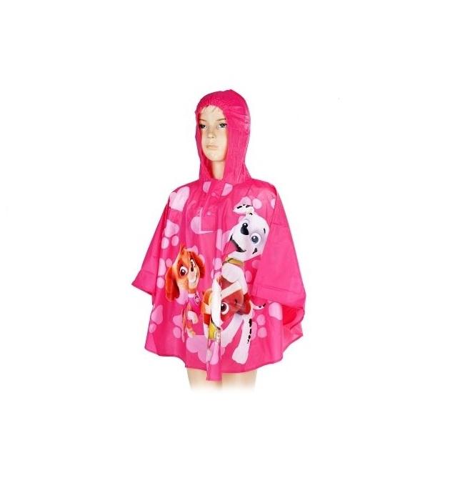 Pelerina poncho ploaie Paw Patrol, PVC, roz 7-8 ani 0