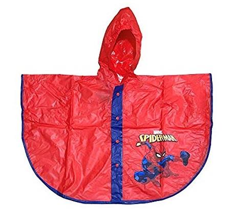 Pelerina poncho ploaie Spiderman, PVC rosu 5/6 ani 0