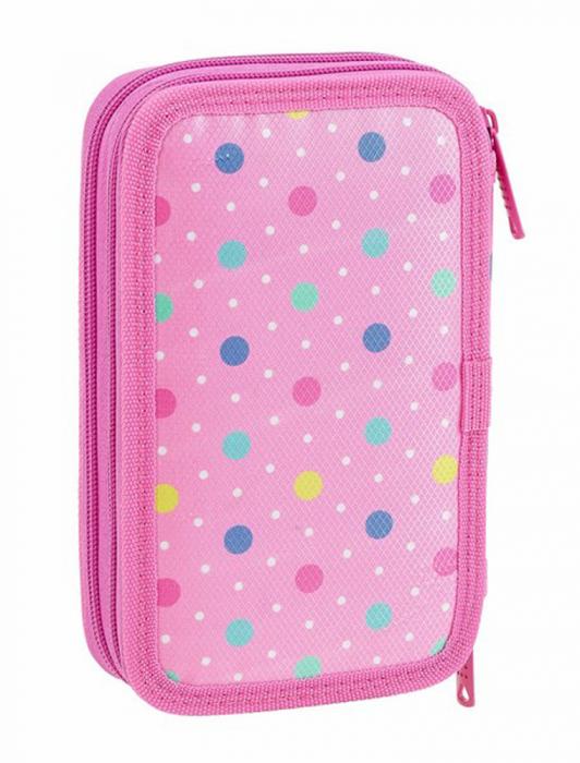 Penar echipat 2 compartimente Dots roz 28 piese 3