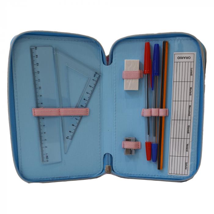 Penar Frozen echipat 3 fermoare,44 piese, paiete reversibile, 20x13x6 cm [5]