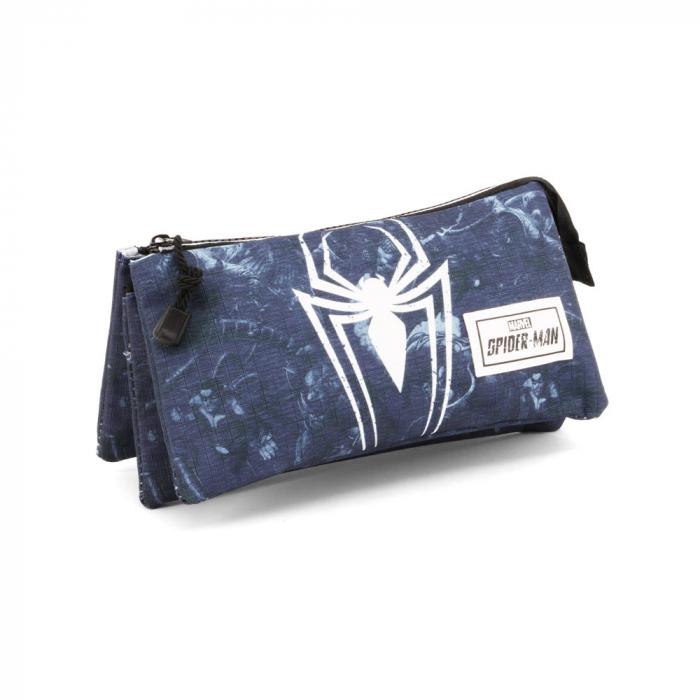 Penar triplu 3 fermoare Spiderman 'Poison' 23.5x11x5 cm 0