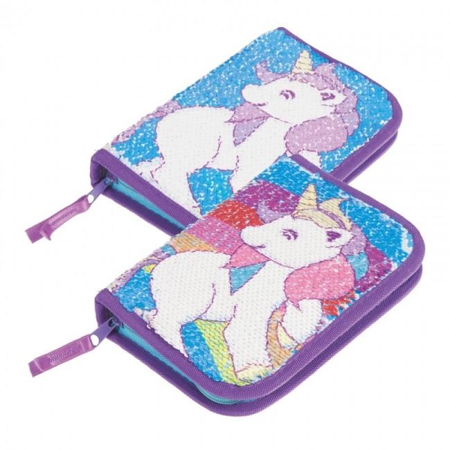 Penar Unicorn ,cu paiete, 1 compartiment, 13.5x20.5x4 cm 1