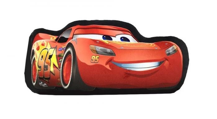 Perna catifea Cars rosu 46x22x7 cm 2