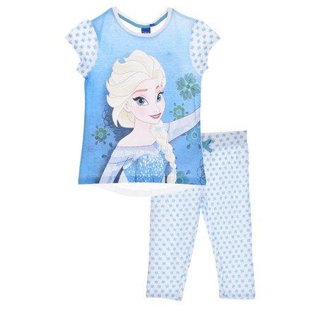 Pijama 3/4 Frozen bleu 128 cm , 8 ani [0]