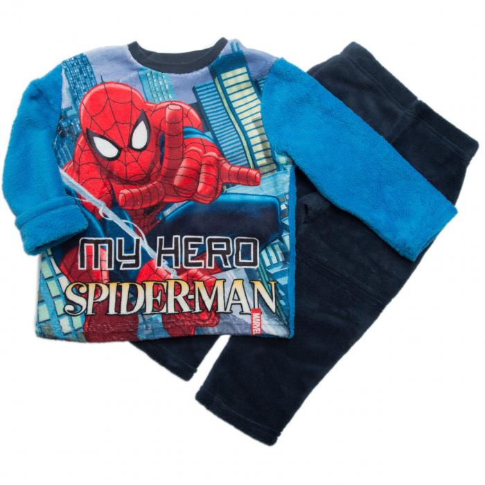 Pijama cocolino Spiderman bleu, 4 ani, 104 cm 1