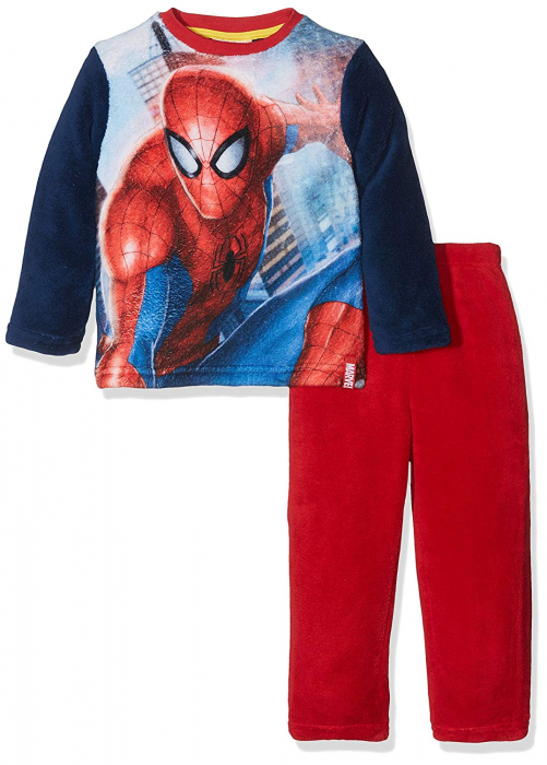 Pijama cocolino Spiderman rosu, 4 ani, 104 cm 1