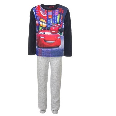 Pijama maneca Cars, gri,128cm,8 ani 0