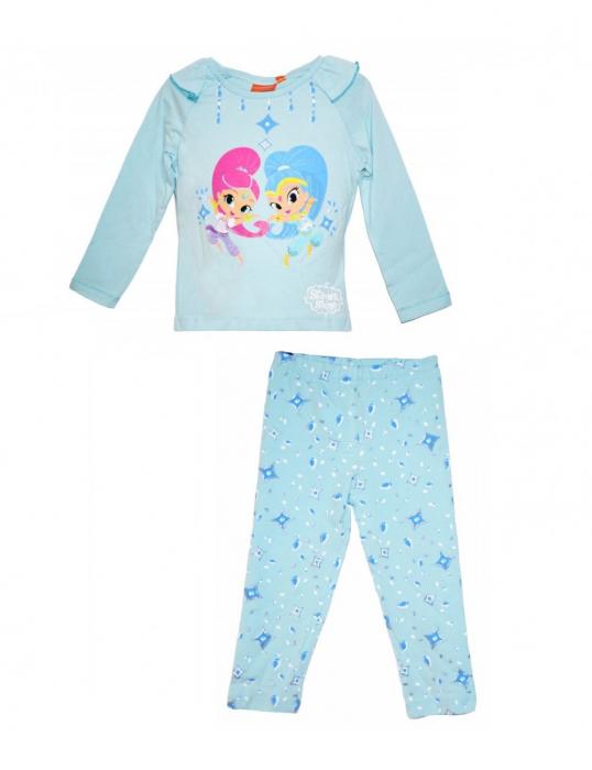 Pijama maneca lunga bumbac Shimmer Shine [0]
