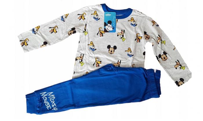 Pijama maneca lunga bumbac Mickey Mouse [0]