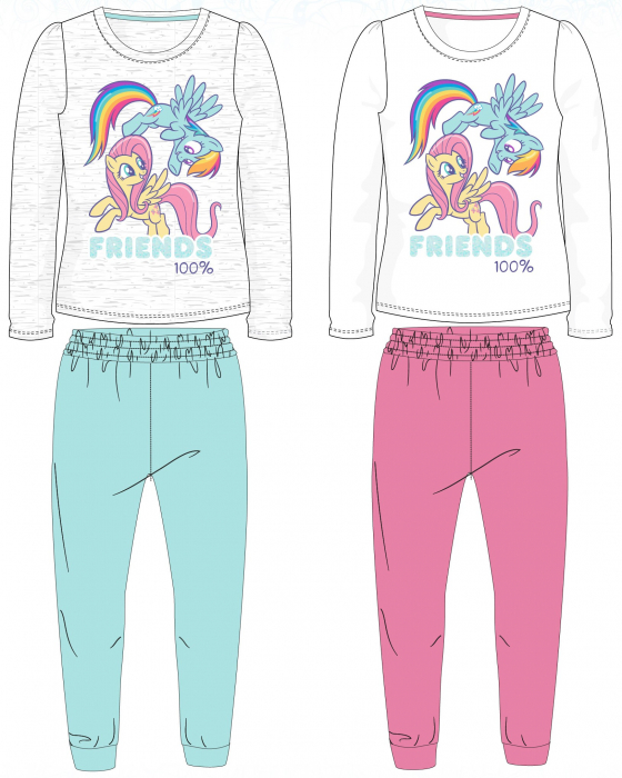 Pijama maneca lunga bumbac My Little Pony 0