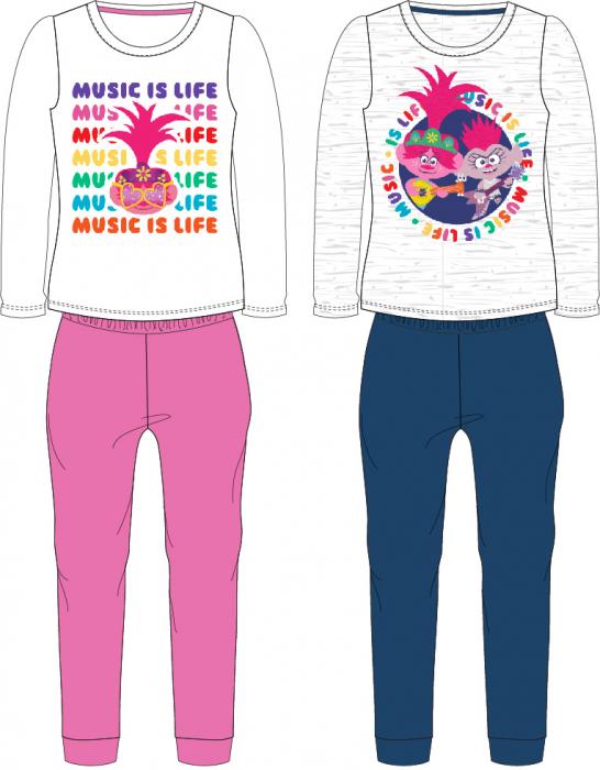 Pijama maneca lunga bumbac Trolls Music is Life [1]