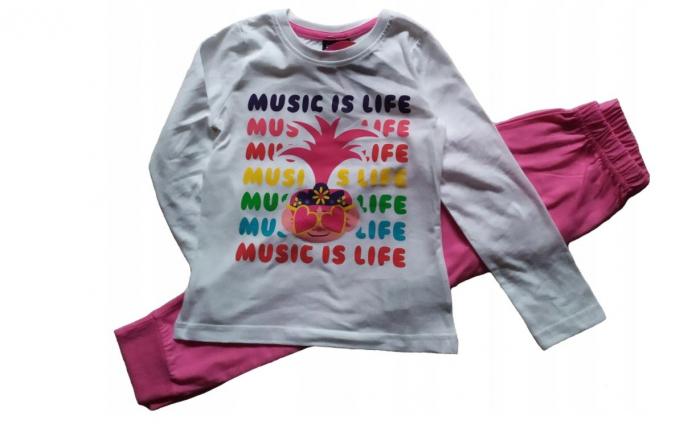 Pijama maneca lunga bumbac Trolls Music is Life [0]