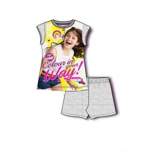 Pijama maneca scurta Soy Luna , 6-7 ani gri 0