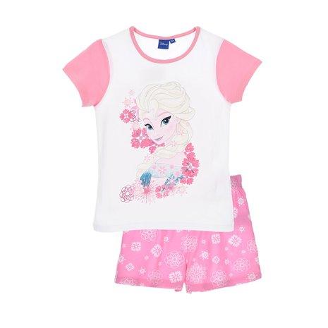 Pijama scurta Frozen roz 104 cm,4 ani 0