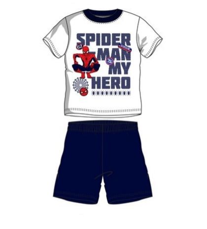 Pijama scurta Spiderman albastru 98 cm , 3 ani [0]